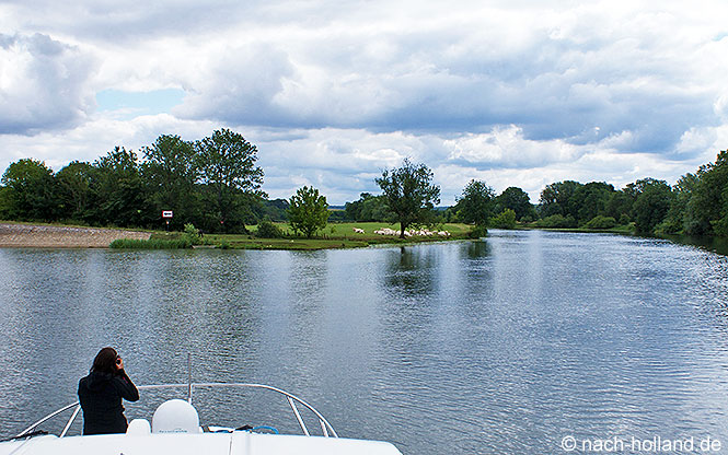 Landschaft Hausboot-Tour