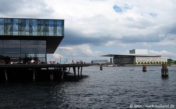 Blick auf die Oper von Kopenhagen