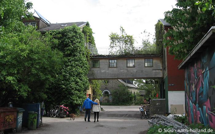 Unterwegs in Christiania in Kopenhagen