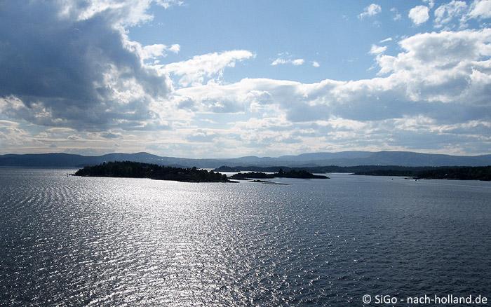 Ausblick auf den Osloer Fjord