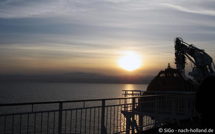 Sonnenuntergang über dem Fjord