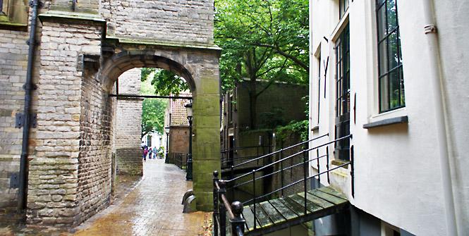 Mittelalterliche Gassen in Gouda