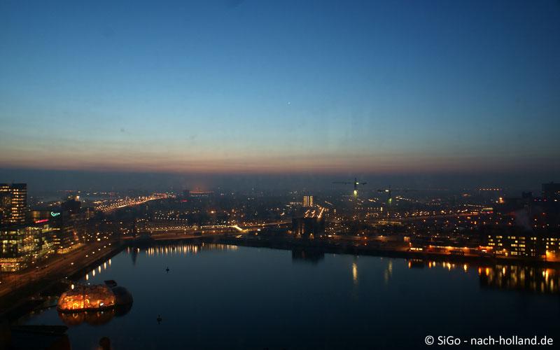 Aussicht vom Sunrise-Zimmer am Morgen