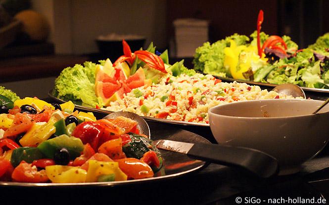 Gemüse beim Abendbuffet DFDS Seaways