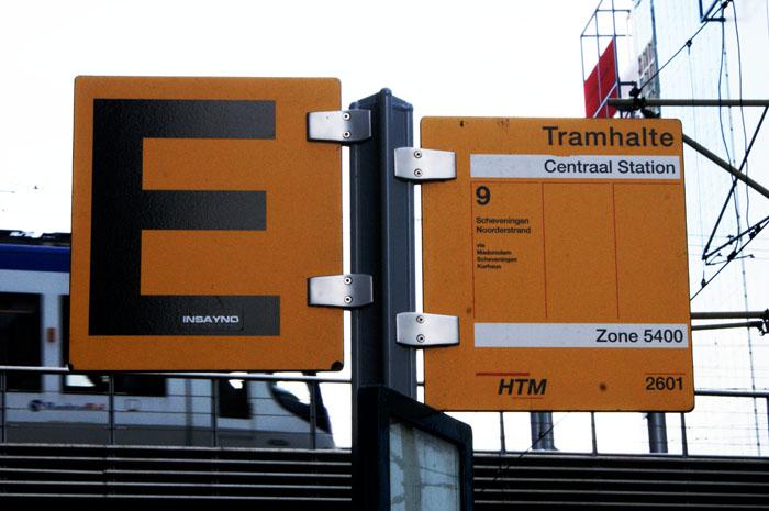 Schild Straßenbahn Den Haag