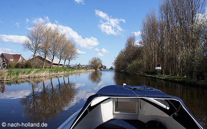 Mit dem Boot durch Holland