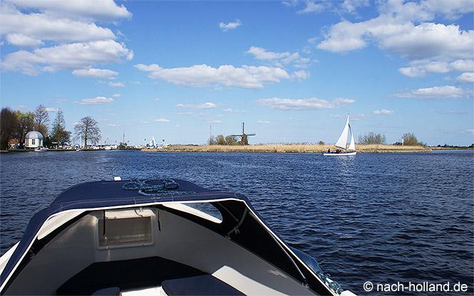 Auf den Kagerplassen mit dem Boot