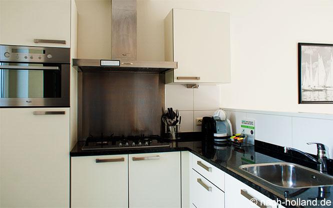 Küche in der Suite am See Center Parcs De Eemhof