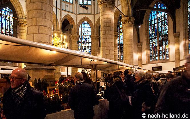gouda bei kerzenlicht - markt in der sint janskerk