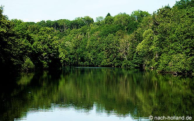 Grüne Umgebung Hausboot-Tour
