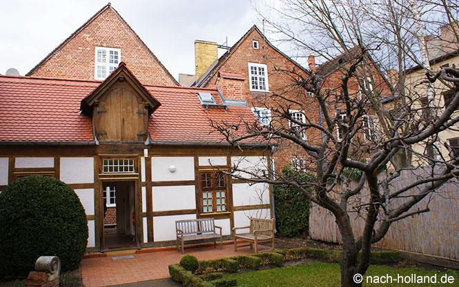 Innenhof des Jan Bouman Haus im Holländischen Viertel in Potsdam