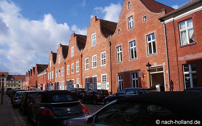 Straße im Holländischen Viertel in Potsdam