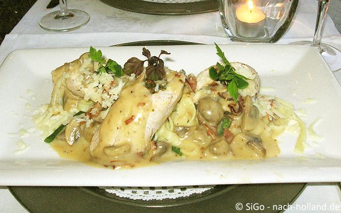 Abendessen im Hotel Central Den Bosch