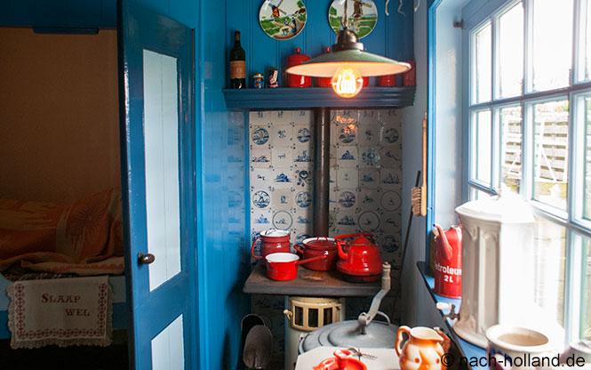 Küche im Fischerhäuschen von Kaap Skil auf Texel