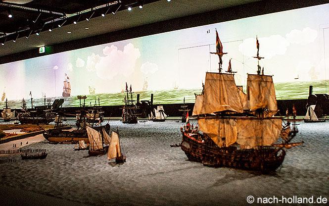 Modell der Reede vor Texel im Museum Kaap Skil