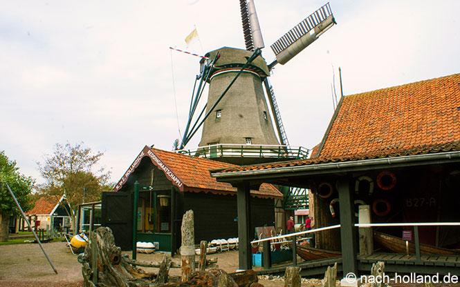 Windmühle im Museum Kaap Skil auf Texel
