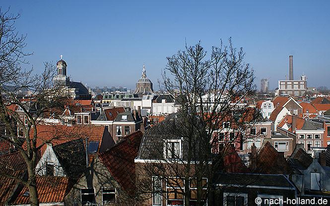 Aussicht von der Burcht auf die Stadt Leiden