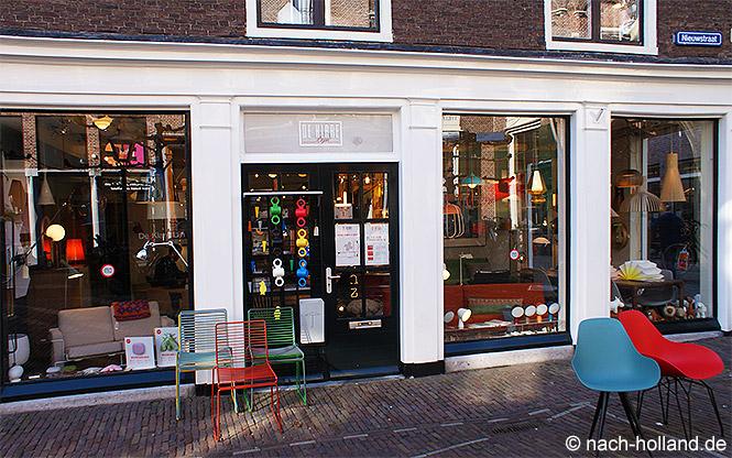 Ein Laden mit Designermöbeln in Leiden