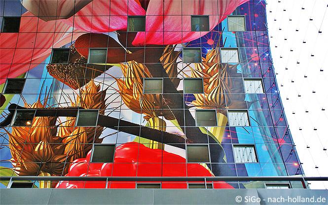 Innenfassade und Verglasung der Markthalle in Rotterdam