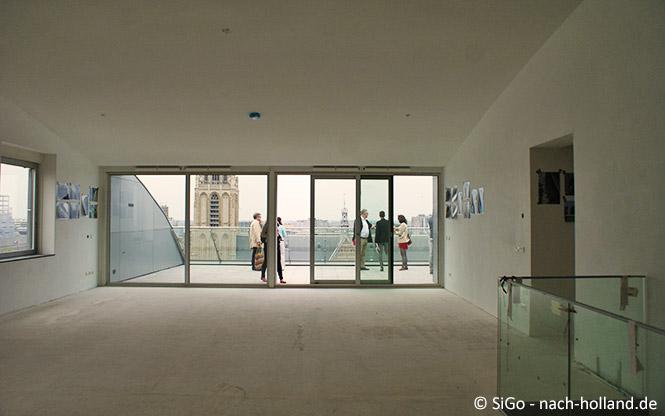 Penthouse Wohnung Markthalle mit Aussicht auf Rotterdam
