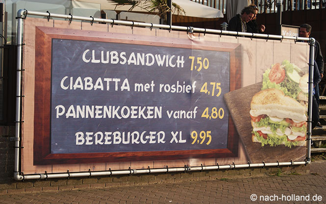 Preisschild in Holland