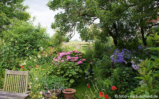 Wunderschöner Blumengarten in Friesland