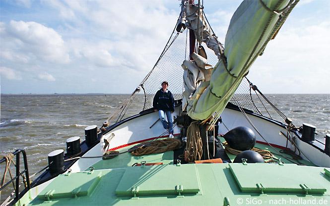 Segeln auf dem Segelschiff Grote Beer von Holland Sail