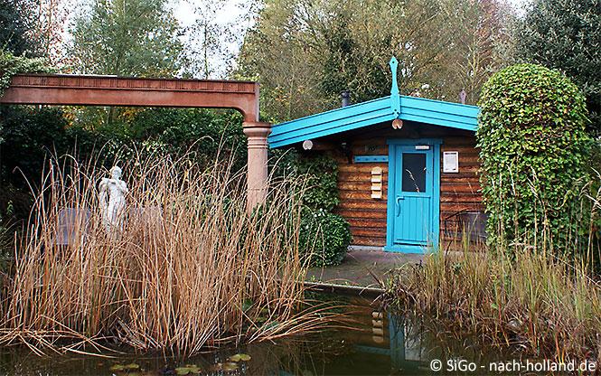 Aussenbereich im Wellnesszentrum Palestra im Ferienpark Landal Stroombroek