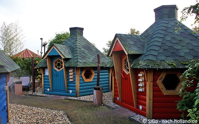 Aussensauna im Wellnesszentrum Palestra im Ferienpark Landal Stroombroek