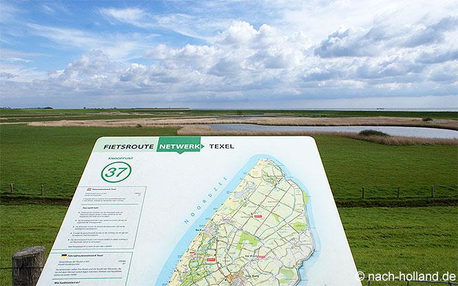 Unsere Fahrradroute auf Texel - immer leicht zu finden
