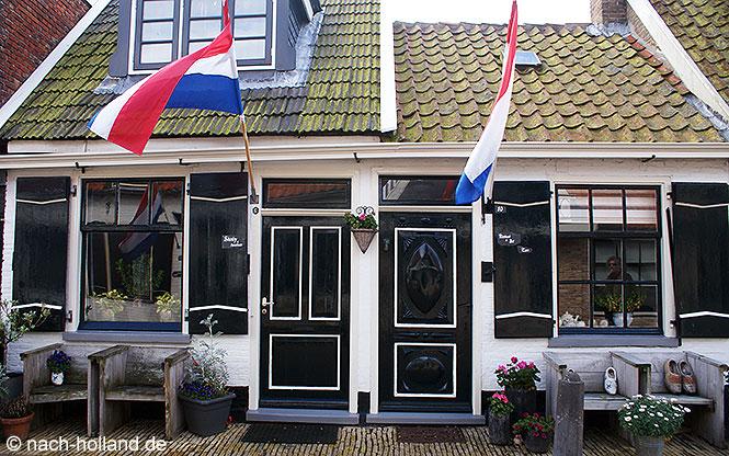 Häuser in Oosterend auf Texel