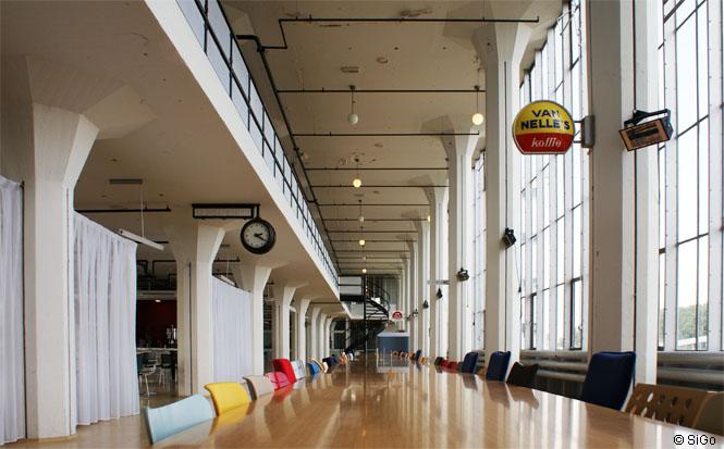 Van Nelle Fabrik Rotterdam, Innenraum