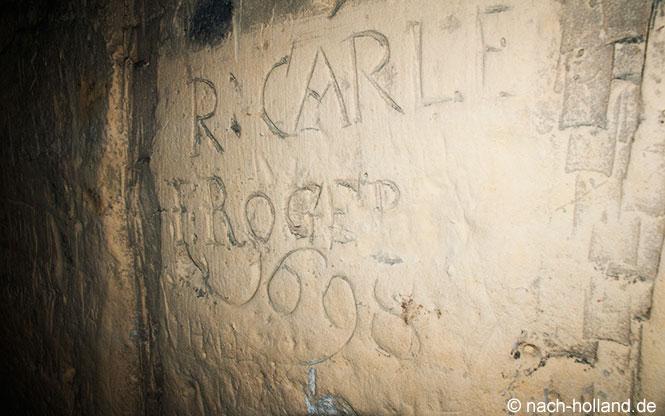 Ältestes Signatur in den Maastrichter Grotten