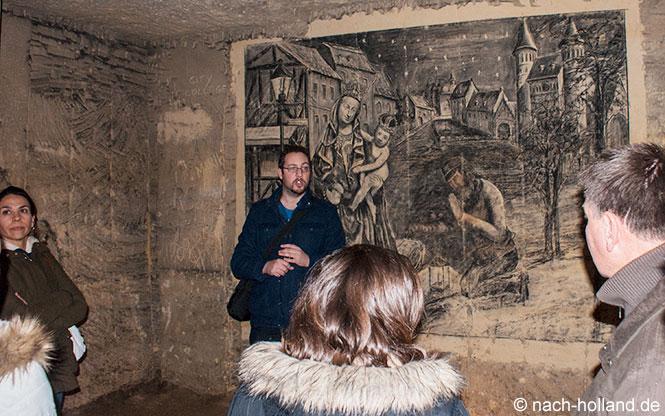 Kunst in den Grotten von Maastricht