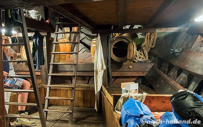 hanseroute kamperkogge unter deck