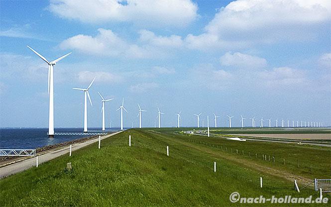 lekker radeln, windpark