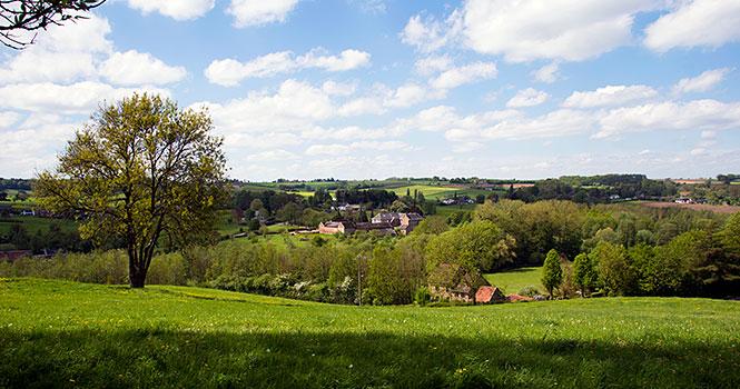 schöne Landschaft rund um den Ferienpark Landal De Waufsberg