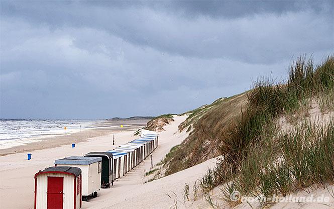 Verlassene Strandhäuschen