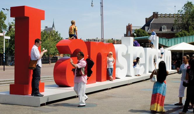 Die bekannten Buchstaben I amsterdam