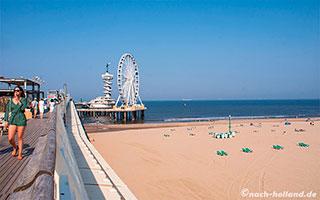 Pier und Strand von Scheveningen